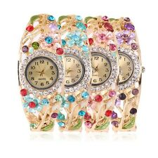 Flower Shape Womens Bracelet Lady Quartz Wrist Watches 5 Color Optional F5