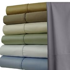 "22"" Extra Deep Pocket Bed Sheet, Ultra-Soft 1000 TC Solid 100% Cotton Sheet Sets"