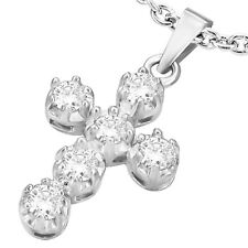 CROSS Stainless Steel Pendant and chain w/CZ