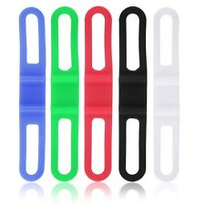 5pcs Silicone Rubber Bike Bicycle Holder Mount Tie Strap Elastic Bandage L5