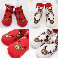 Cute Newborn Baby Girls Boys Anti-slip Shoes Animal Cartoon Slipper Boots Socks