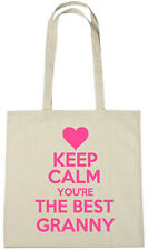Keep Calm Best Granny Tote Bag, xmas christmas birthday gifts for nan, grandma