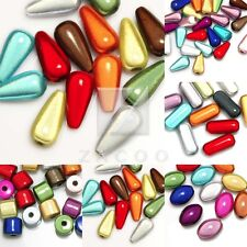 10-50pcs Fashion Acrylic Assorted Miracle Beads Cylinder/Teardrop/Oval/Capsule