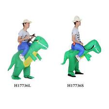 Adult Kids Inflatable Dinosaur Costume Cosplay Halloween Costume Outfit Set Y9Q3