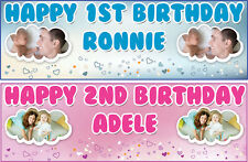 PERSONALISED BIRTHDAY BANNER PARTY PHOTO 18th 21st 30th 40th-any name age-6.5FT