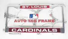 St. Louis Cardinals Chrome Metal Laser Cut License Plate Frame MLB Baseball New