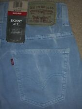 LEVIS 511 Skinny Extra Slim Straight Sits Below Waist Jeans Mens Size 28 New $54