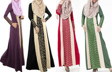muslim Ladies Long Dress Islamic Clothing Abaya Kaftan Jilbab Amira maxi dress