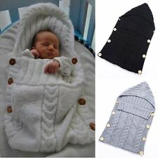 Newborn Baby Infant Hooded Blanket Swaddle Sleeping Bag Sleep Sack Stroller Wrap