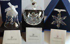 Swarovski Crystal, A.E. Set 2015 Clear Ball, Bell and Star Christmas Ornament