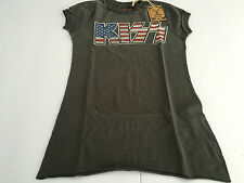 AMPLIFIED the KISS t- shirt woman short sleeves anthracite
