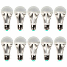 USA Ship 10Pcs E26 LED Bulb Lamp Bright White/Warm White Day Light 7W AC85V-260V