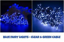 100 LED Blue Fairy String Lights Christmas Indoor/Outdoor Lighting Xmas Party