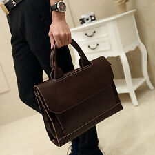 New Men Handbag Crazy Horse PU Leather Briefcase Business Messenger Shoulder Bag