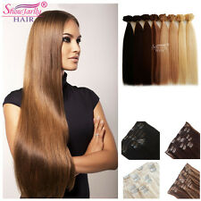 Premium 100% Virgin Human Hair Clip In Remy Straight Hair Extensions 70g/7pcs