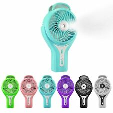 Mini Portable Cooling Misting Fan Personal Beauty Humidifier Rechargeable Travel