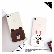 For iPhone 7 7 Plus 6 6S Plus Fashion Lovely Korea Cartoon Bear Bunny Hard Case
