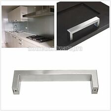 5''New Square Brushed Stainless Steel Kitchen Cabinet Handles Drawer Pulls Knobs