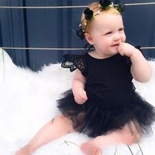 Infant Baby Girls Party Tutu Dress Romper Jumpsuit Bodysuit Birthday Outfits 0-3