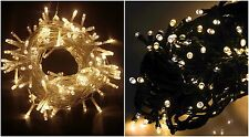 100 LED Warm White Christmas Fairy String Lights Indoor/Outdoor Lighting Xmas