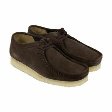 Clarks Wallabee Mens Brown Suede Casual Dress Lace Up Oxfords Shoes