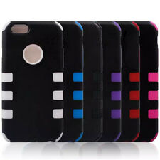 3 In 1 PC Silicone Hybrid Combo Hard Back Cover Case For iPhone 6