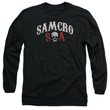 Sons Of Anarchy Samcro Forever Mens Long Sleeve Shirt Black