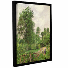 Camille Pissarro's 'Paysage, Temps Gris A Eragny, 1899' Gallery Wrapped Floater-