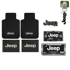 New Jeep Truck Car Truck Front Back Floor Mat / License Plate Frame / Seat Cover
