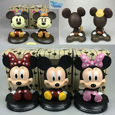 5 Styles New Disney Mickey Minnie Mouse PVC Action Figures Bobblehead Dolls Toys