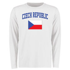 Czech Republic Flag Long Sleeve T-Shirt - White - Country Flags