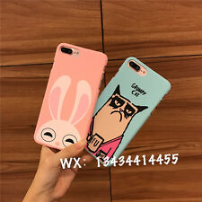 For iPhone 7 7 Plus 6 6S Plus 5S SE Cartoon Pink Judy Anger Cat Polish Hard Case