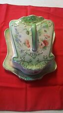 VINTAGE LIDDED  STAFFORDSHIRE STOKE ON TRENT ENGLAND CHEESE/BUTTER PLATE
