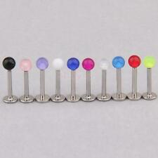 1pcs Lady Body Jewelry Labret Stud Party Dressing Gift Lip Ring Color Assorted