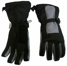 NICE CAPS Mens Extreme Cold Weather Winter Waterproof Long Cuff Ski Snow Gloves