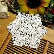 8'' Cotton Round Handmade Crochet Snowflake Lace Doilies Placemat N01