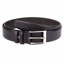 Smooth Leather Belt Men's Belts Saffiano leather Custom buckle Casual Capo Pelle