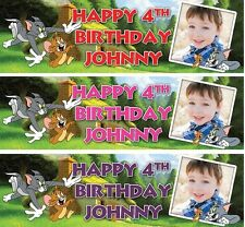 2 x PERSONALISED BIRTHDAY BANNER PHOTOS 1st 18th 21st 30th 40th-any name age S