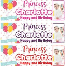 2 x PERSONALISED BIRTHDAY BANNER BALLOON 1st 18th 21st 30th 40th-any name age S