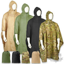US ARMY STYLE WATERPROOF RIPSTOP PONCHO BASHA MILITARY NYLON