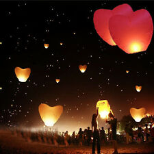 China Kongming Heart Paper Sky Fire Lantern Fly Light Balloon Wishes lamps BBUS