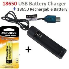 USB 18650 Battery Charger+Camelion 18650 2600mah 3.7V Li-on Rechargeable Battery
