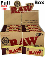 2500 1000 250 50 Authentic Raw Roach Natural Rolling Filter Paper Tips Unrefined