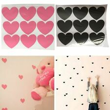 60PCS Heart Removable Wall Art Sticker Vinyl Decal DIY Room Home Mural Decor