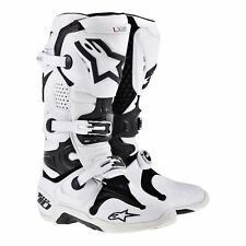 Alpinestars Tech 10 White Vented Motorcycle Boots, Tech-10, NEW!