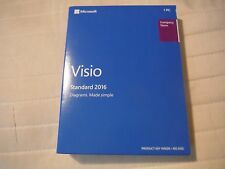 Microsoft Visio Standard 2016 1PC Brand New Medialess Product Key D86-05555