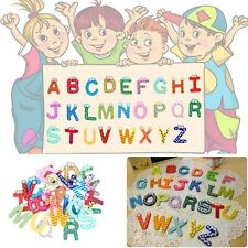 Hot 26 Letters 10 Numbers Childrens Kids Alphabet Spelling Fridge Magnets Toy E