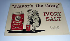 """""""Flavor's The Thing"""" Ivory Salt Metal Sign 16"""" X 11"""""""