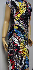 """FINAL SALE"" NEW Roberto Cavalli printed multi color dress size S;M;LXL"
