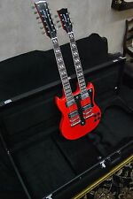 NEW RED DOUBLE NECK 12 & 6 STRING SG VINTAGE STYLE ELECTRIC GUITAR & CASE